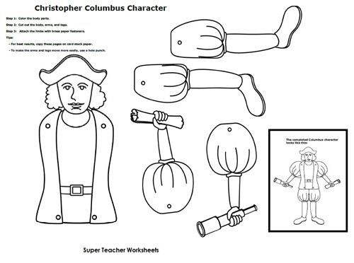 Christopher Columbus Character – Christopher Columbus Worksheets