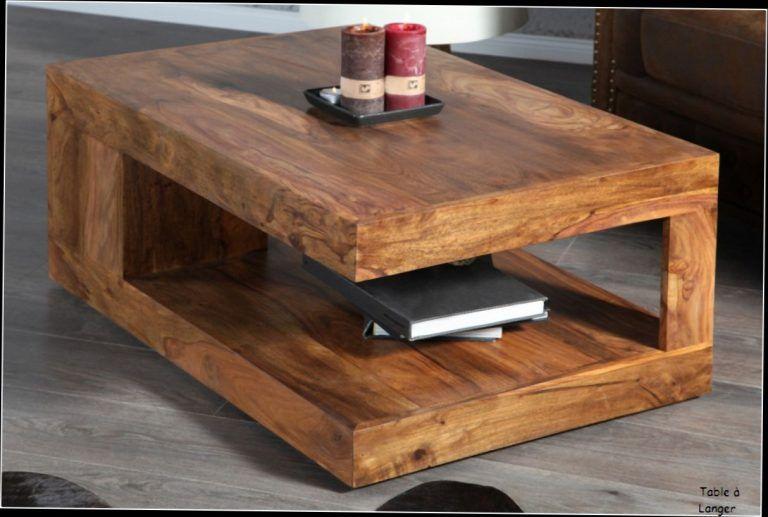 Table Basse De Salon En Bois Massif 2 Idees De Decoration
