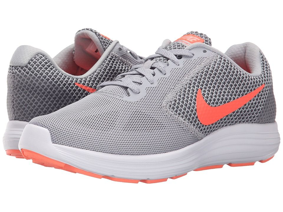 Nike Revolution 3 Women s Running Shoes Wolf Grey Cool Grey Atomic Pink Hyper  Orange 9061fa755