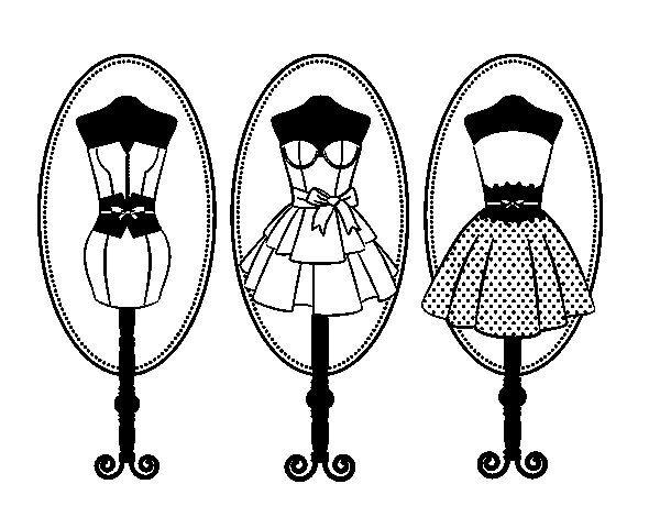 Dibujos De Vestidos Para Colorear E Imprimir: Dibujos De Vestidos De Moda Para Colorear