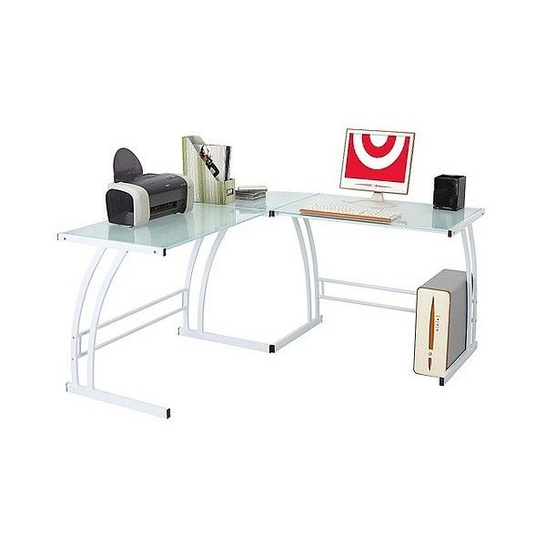 Gamma Workstation White (€140) ❤ liked on Polyvore featuring home, furniture, desks, white, mod furniture, white desk, modern home office desk, white furniture and modern home furniture