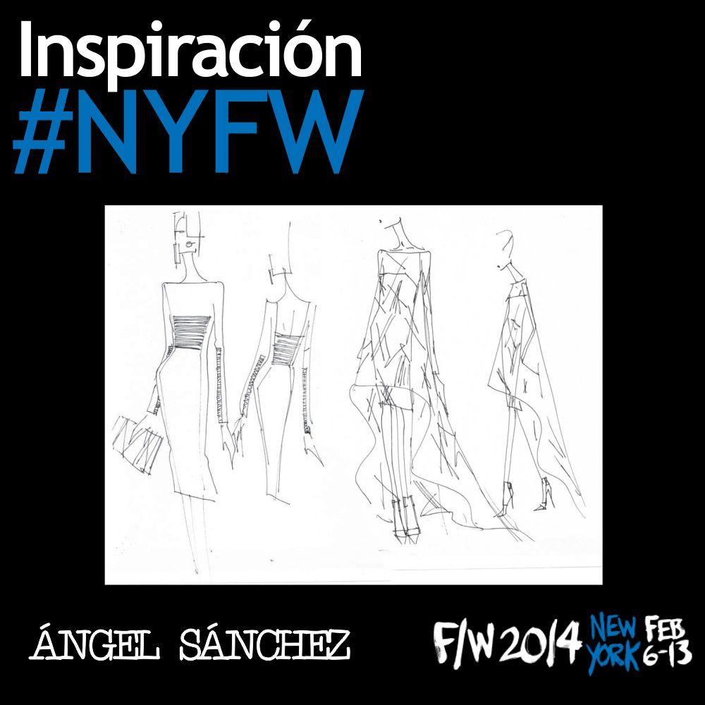 """Los venezolanos tienen su representación en esta edición de New York Fashion Week, pues Ángel Sánchez presenta su colección Otoño/Invierno 2014 inspirada en la frase del escritor Oscar Wilde """"Todo santo tiene un pasado, y todo pecador tiene un futuro"""". ¿Qué opinas de estos bosquejos de sus nuevos diseños? #YZAB #ESTÉTICA #Moda #NYFW #FW14"""