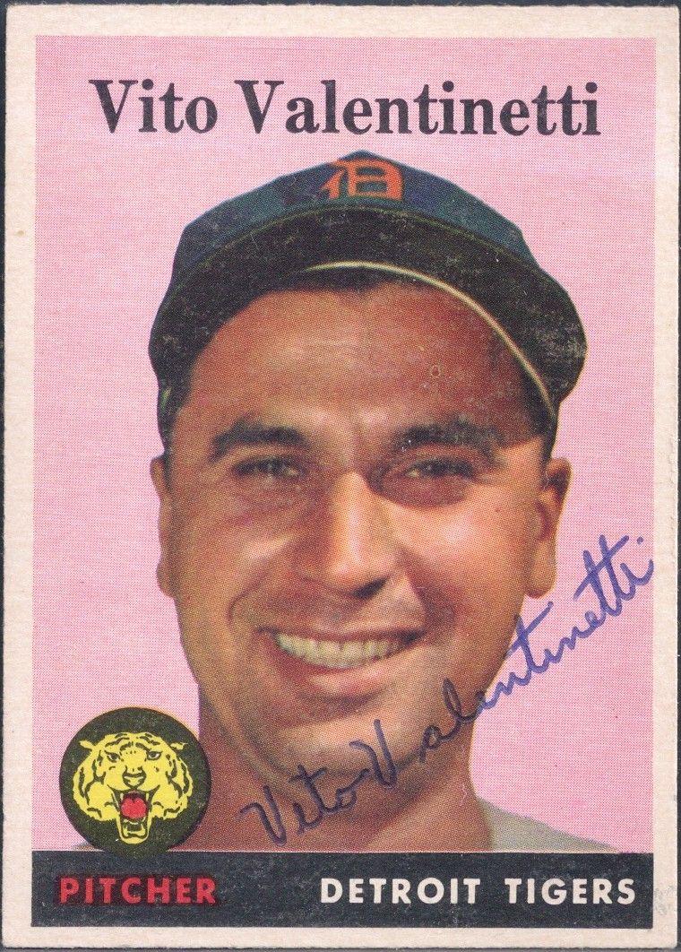 1958 topps vito autograph baseball cards
