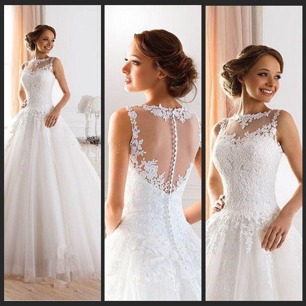 vestido de novia escote y espalda con encaje - buscar con google