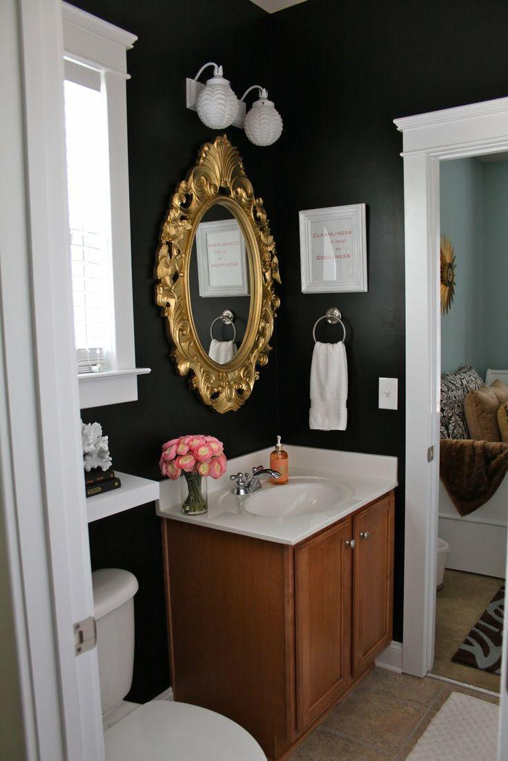 이미지 출처 http://cayhin.com/images/2015/01/inspiring-room-gold-bathroom-mirror-decor-diy-ideas-gold-arch-mirror-frame-brown-varnished-wood-vanities-white-ceramic-counter-tops-round-stainless-steel-hanger-towel-round-white-wall-lamp-white-toile.jpg