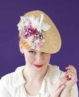 Ab Fab Hat From Fraulein Von Sofa Verruckte Hute Fascinator Hochzeit