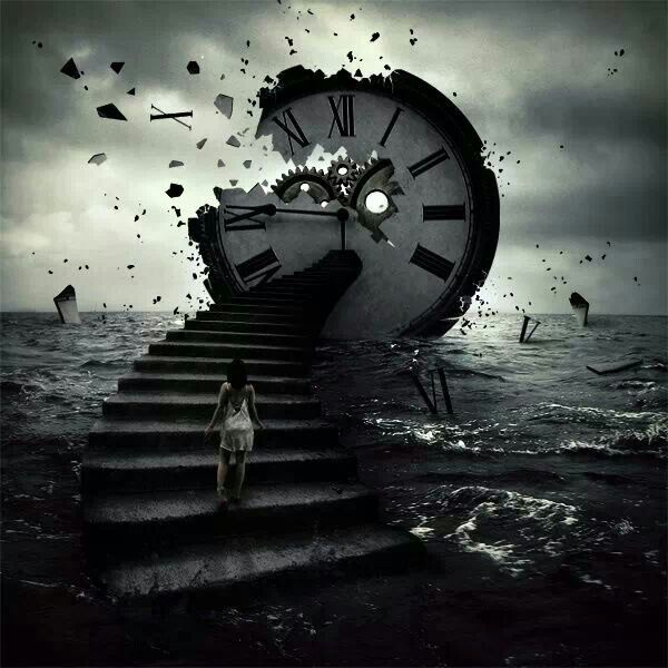 Surrealism clock: Time fading away | Surrealism photography ...