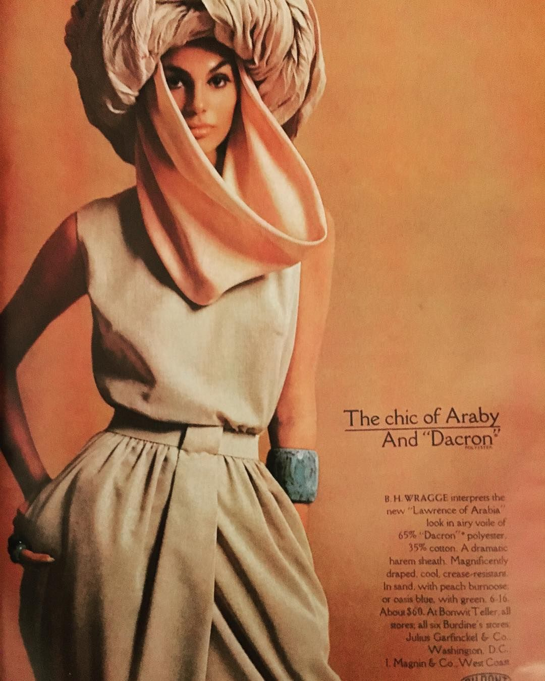 the chic of araby and dacron: b.h. wragge interprets the new