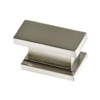 southern hills satin nickel rectangular cabinet knobs pack of overstock shopping big discounts on southern hills cabinet hardware - Brushed Nickel Cabinet Pulls