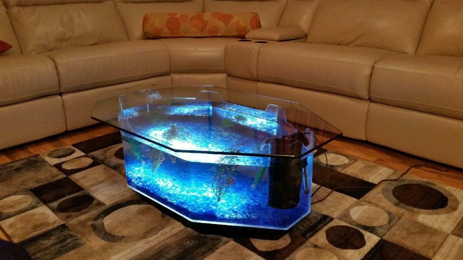 Aqua coffee table 28 gallon aquarium coffee table