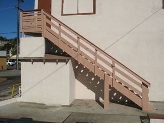 outdoor wooden stairs | Outdoor wood stairs will require ...