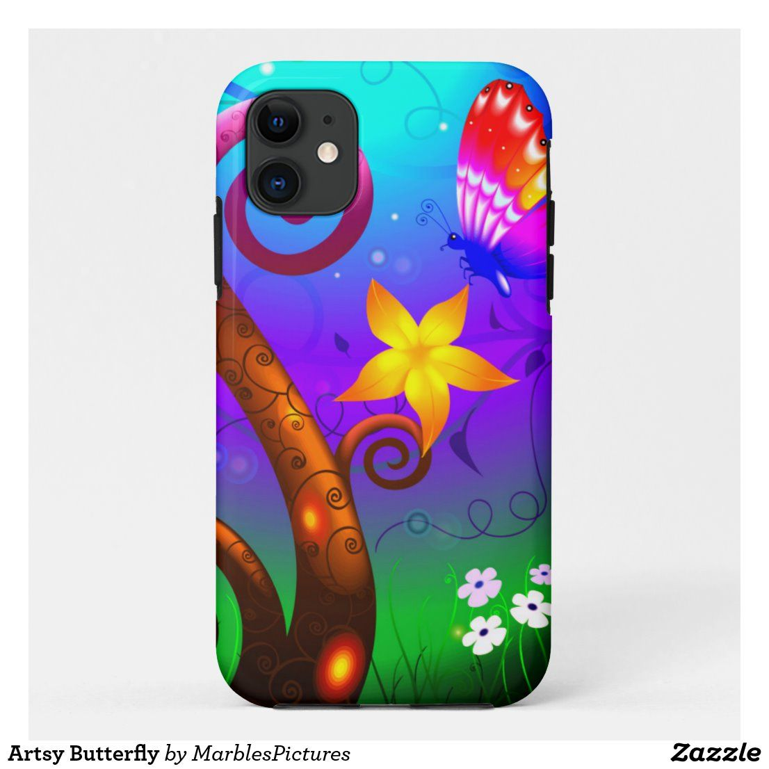 Artsy butterfly casemate iphone case