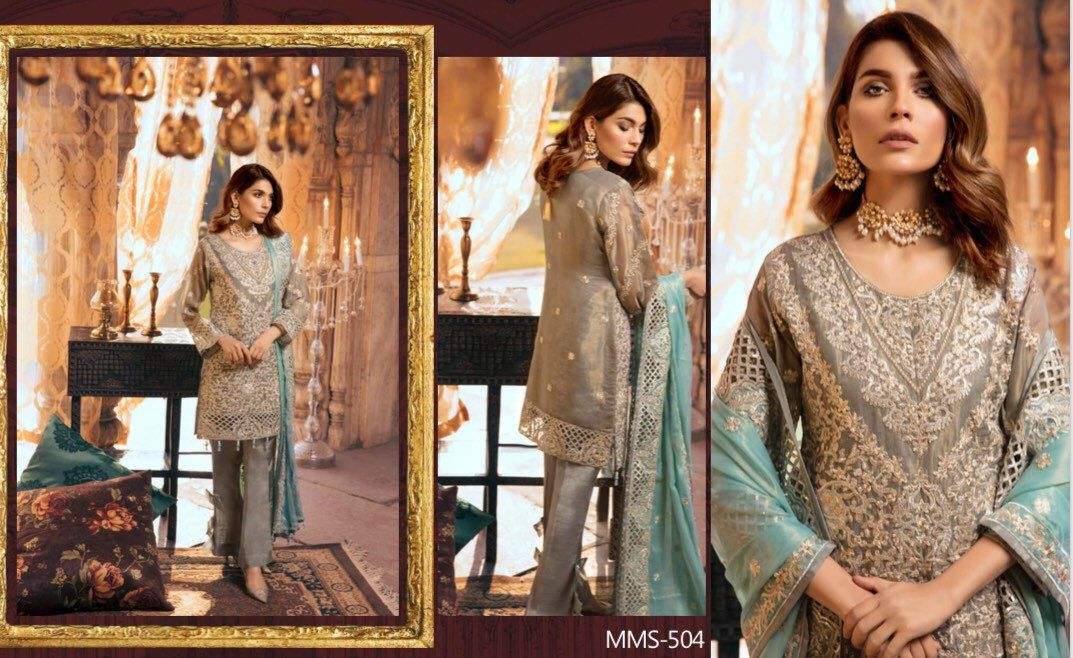 705125a1e3 Original Maryum N Maria Shamrock Luxury Chiffon Collection Vezhdo Launching  on 9th February 2019 Limited editionHandmade itemOverviewHandmade  itemMaterials: ...