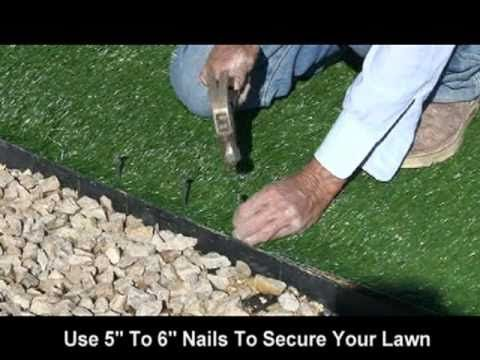 Realgrass At Home Depot Synthetic Artificial Turf Installation Turf Installation Diy Artificial Turf Synthetic Grass Backyard