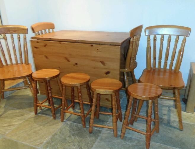Solid Pine Table And Chairs Stalls On Gumtree Drop Leaf