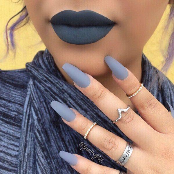 29 Süßes Nagellack Lippenstift Make-up Style2 T – Coffin nails designs