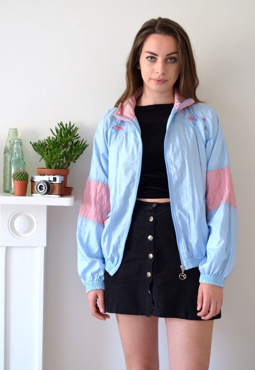 80s Vintage Clothing In The Uk Just Got Easier: 80s Vintage Diadora Pastel Shell Jacket