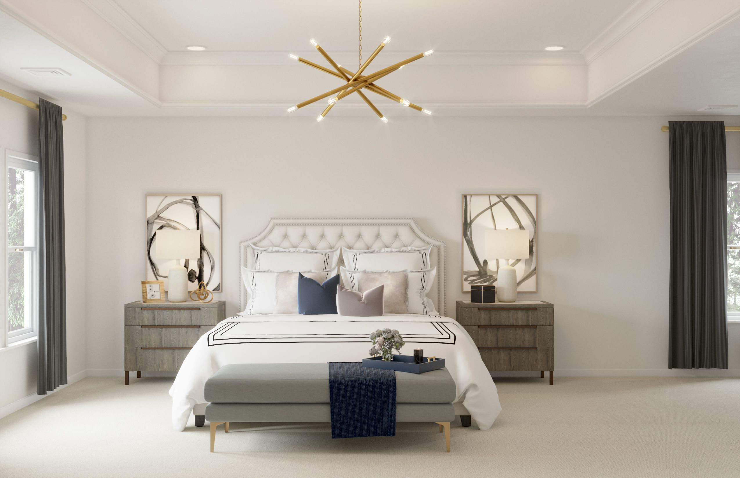 Contemporary, Modern, Glam Bedroom Design by Havenly ...