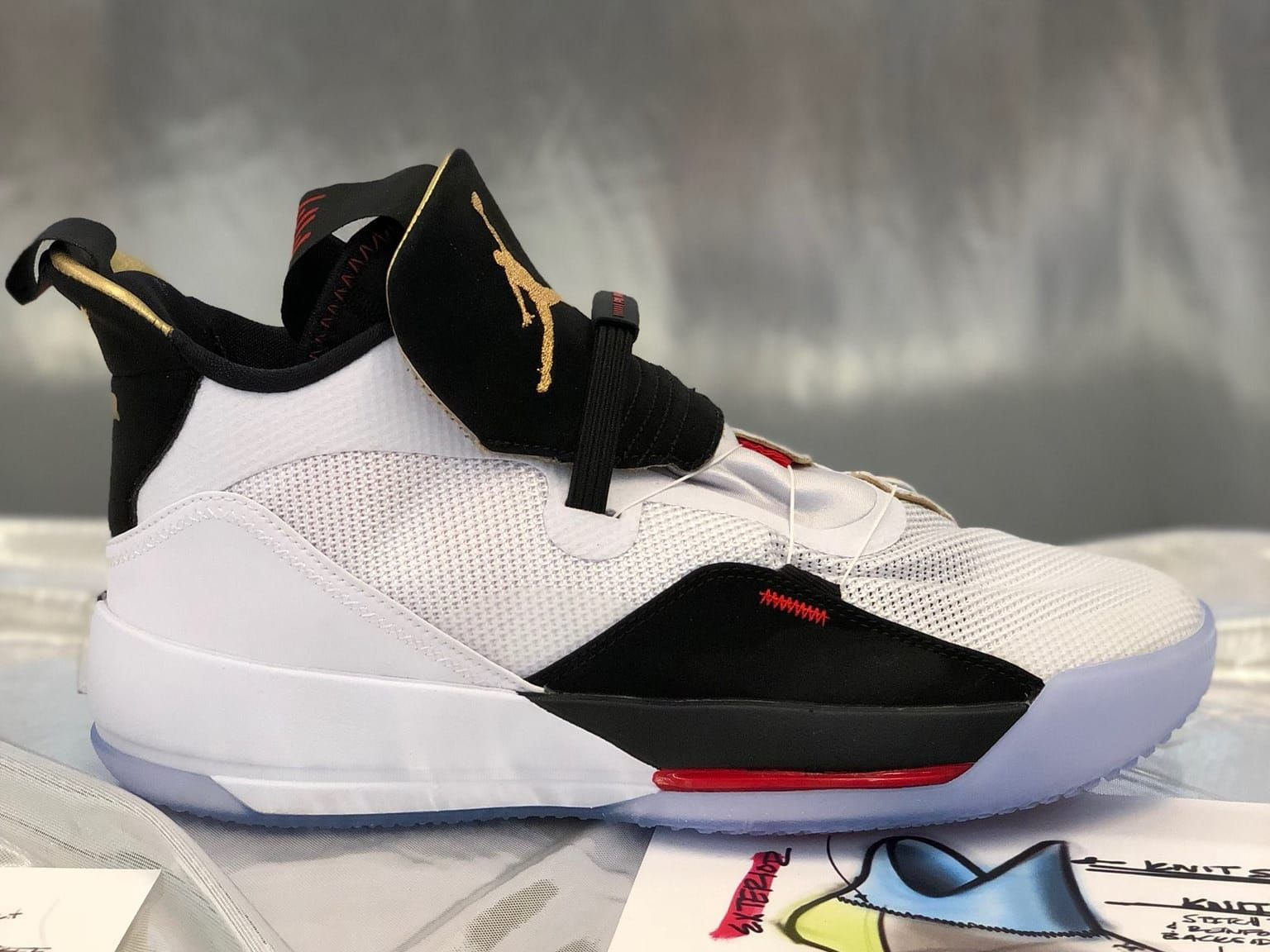 sports shoes dbb6d accfb Air Jordan 33 White Black Red Launch Release Date Profile - Air Jordan 33  XXXIII Release Date   Sole Collector