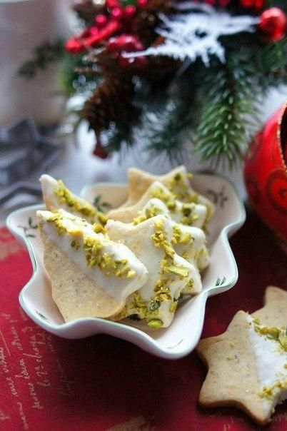 Cookies with pistachio and white chocolate