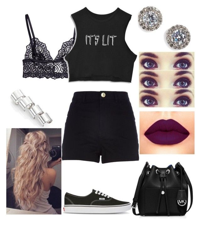 """Untitled #248"" by rhay-q ❤ liked on Polyvore featuring Maison Margiela, Nadri, Vans, MICHAEL Michael Kors and River Island"