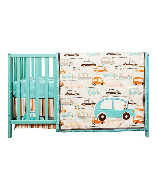 Vroom La-La Three-Piece Crib Bedding Set