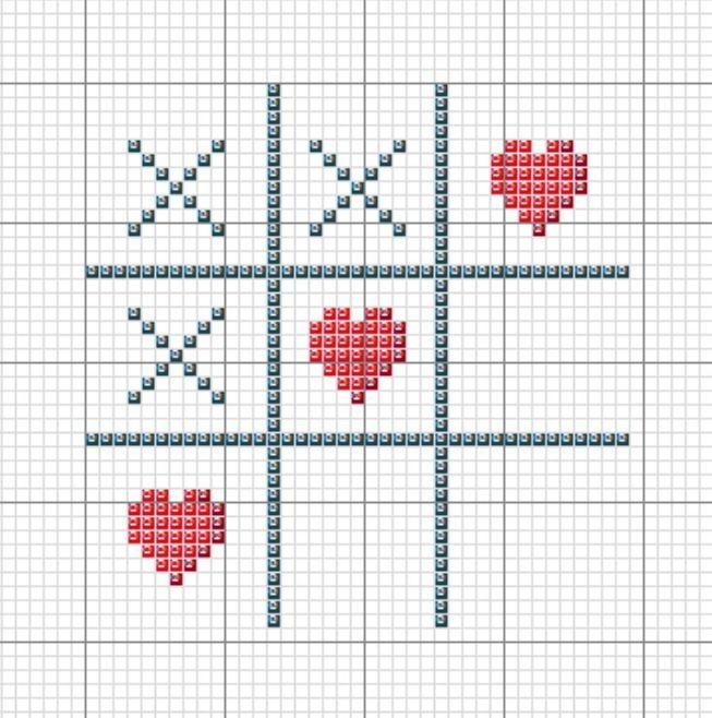 Легкая картинка крестом
