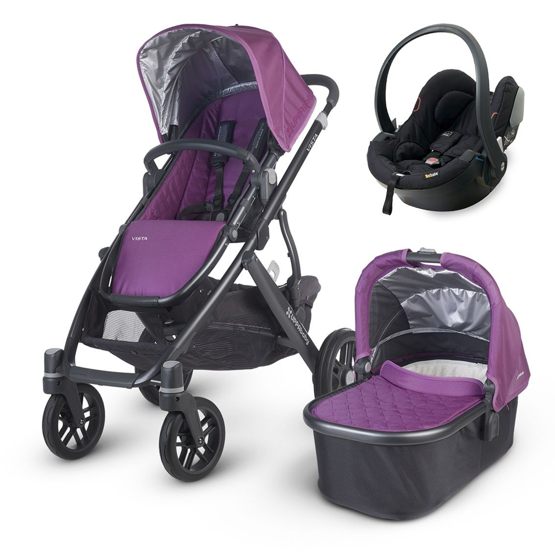This UPPAbaby Vista 2015 (Samantha Amethyst) package