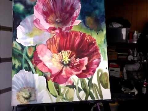 background poppy detail stems