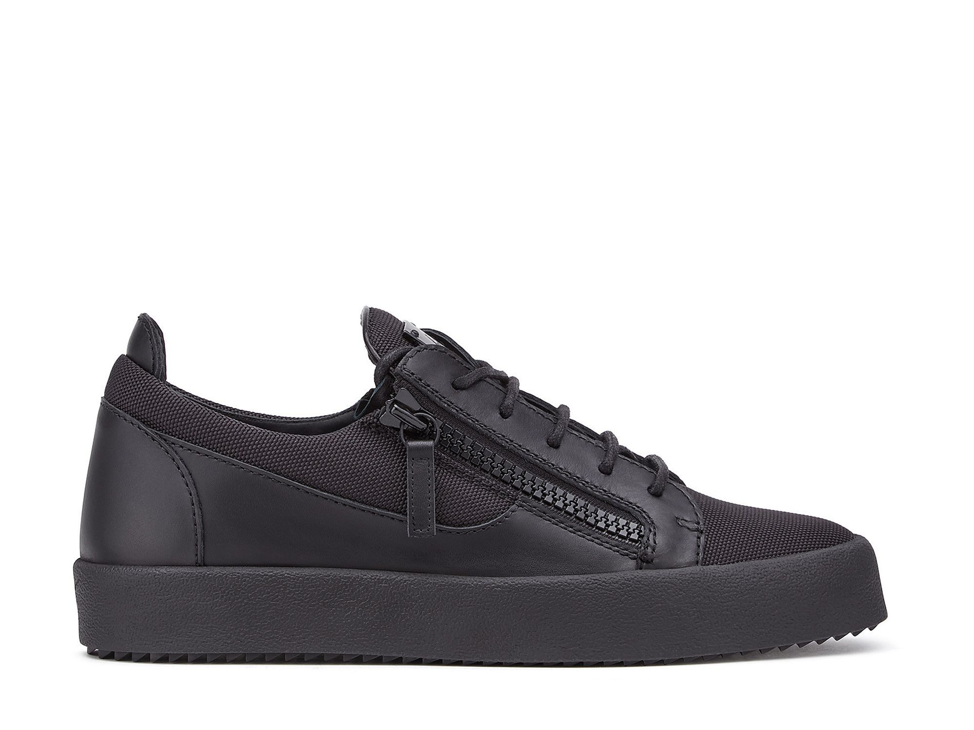 c559ffee31def Sneakers Giuseppe Zanotti - Za May London H1 en cuir et toile noir   sergiorossishoes