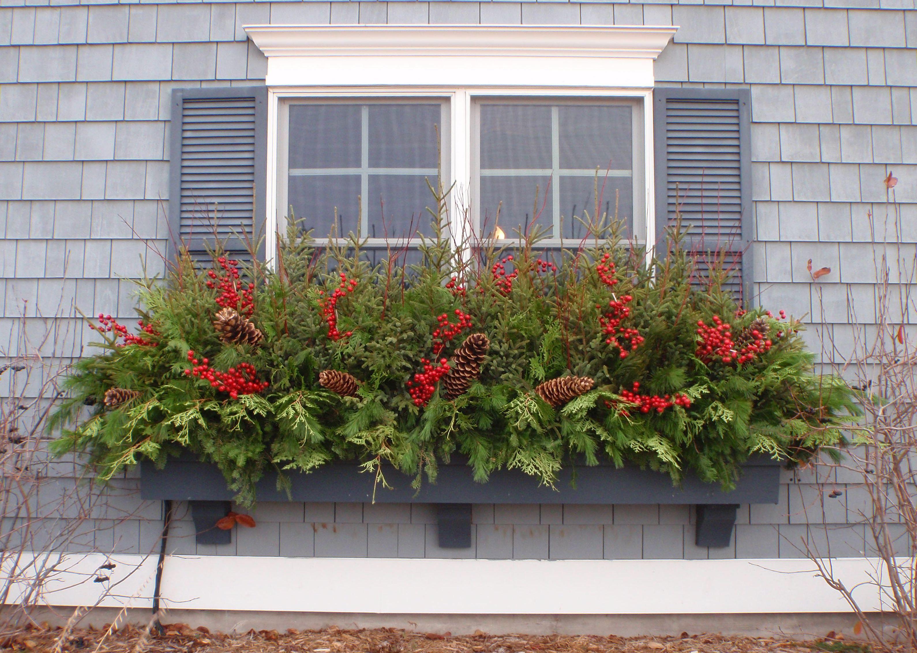 winter window box winter pinterest weihnachten fenster dekorieren and fenster. Black Bedroom Furniture Sets. Home Design Ideas