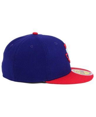 hot sale online 7385d 4e5f7 New Era Kids  Texas Rangers Batting Practice Diamond Era 59FIFTY Cap -  Blue Red 6 3 4