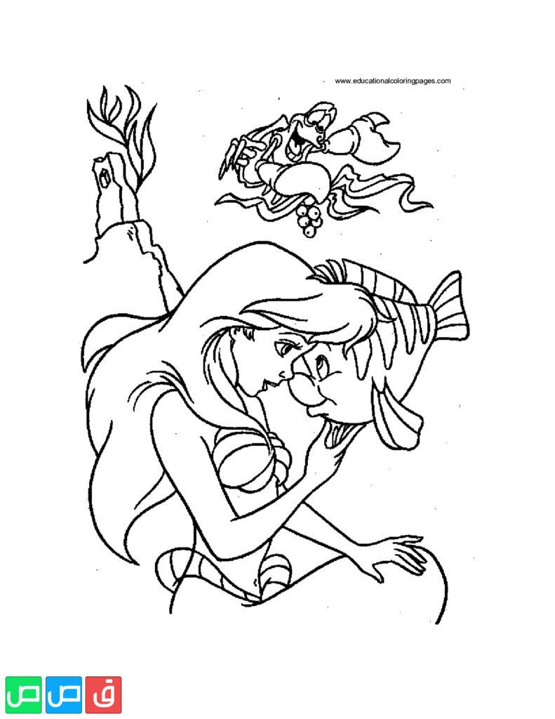 رسومات للتلوين للبنات أكثر من مائة صورة جاهزة للطباعة قصص اطفال Super Coloring Pages Coloring Pages Ariel And Flounder