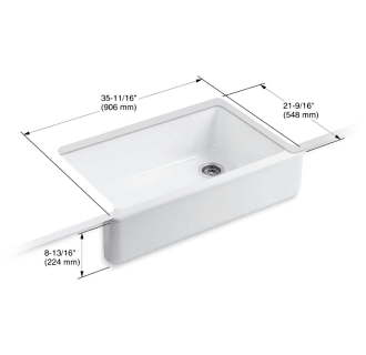 Kohler K 6489 Cast Iron Kitchen Sinks Single Basin Sink