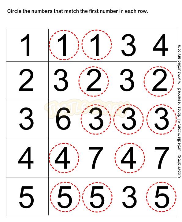 Learn Numbers Worksheets For Preschoolers Numbers