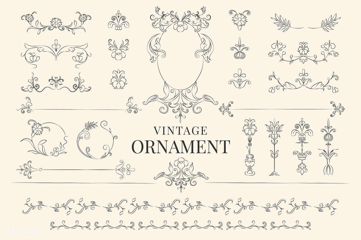 Vintage Flourish Ornament Illustration Free Image By Rawpixel Com Vector Art Design Vector Free Free Vector Art