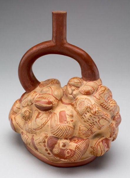 Moche Supernatural potato form vessel | Pottery in 2019 ...
