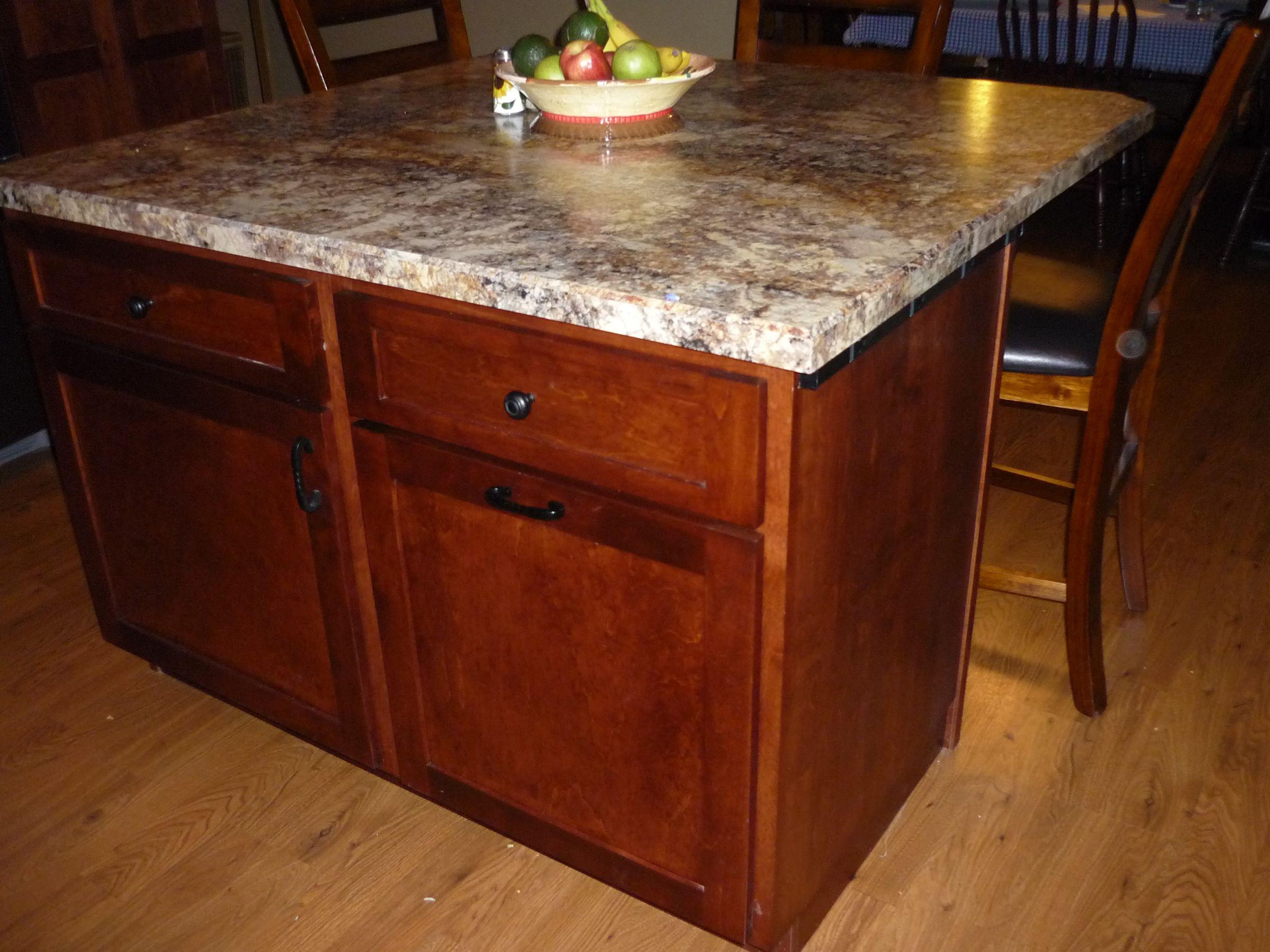 Kitchen Island Kitchen Cabinets Pinterest