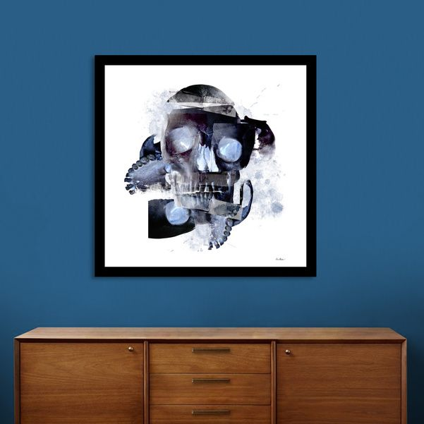 «Skull Abstract» Art Print By Andrew Binder