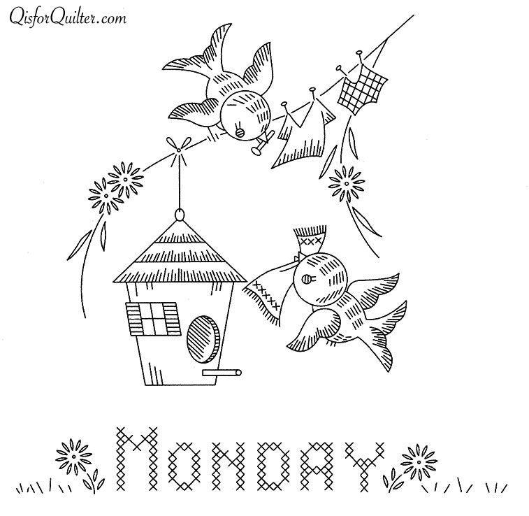 Vogart-671-Bluebirds-Monday | Dibujos para todo | Pinterest ...