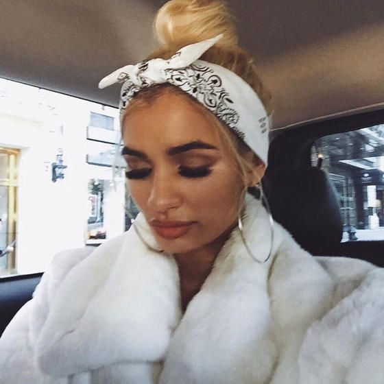 14 Creative Ways To Wear A Bandana Bandana Hairstyles Pia Mia Princess Pia Mia