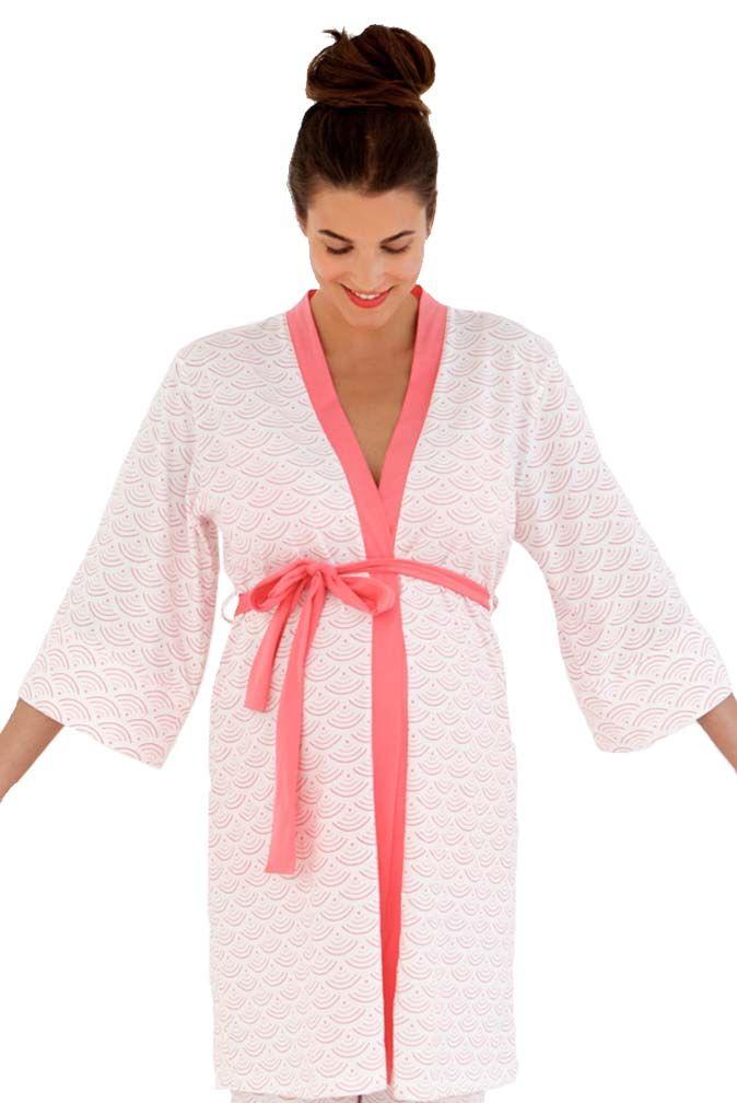 690156394b609 Belabumbum Hana Kimono Maternity Nursing Robe | Nursing Apparel ...
