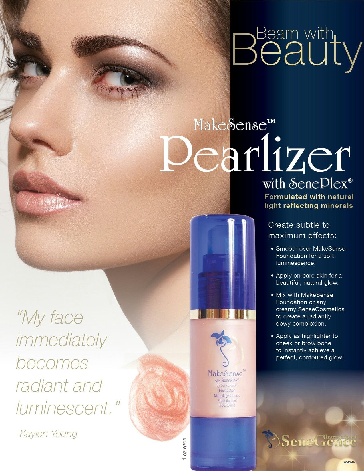 Senegence Pearlizer Is Beautiful On Its Own Or Combined With
