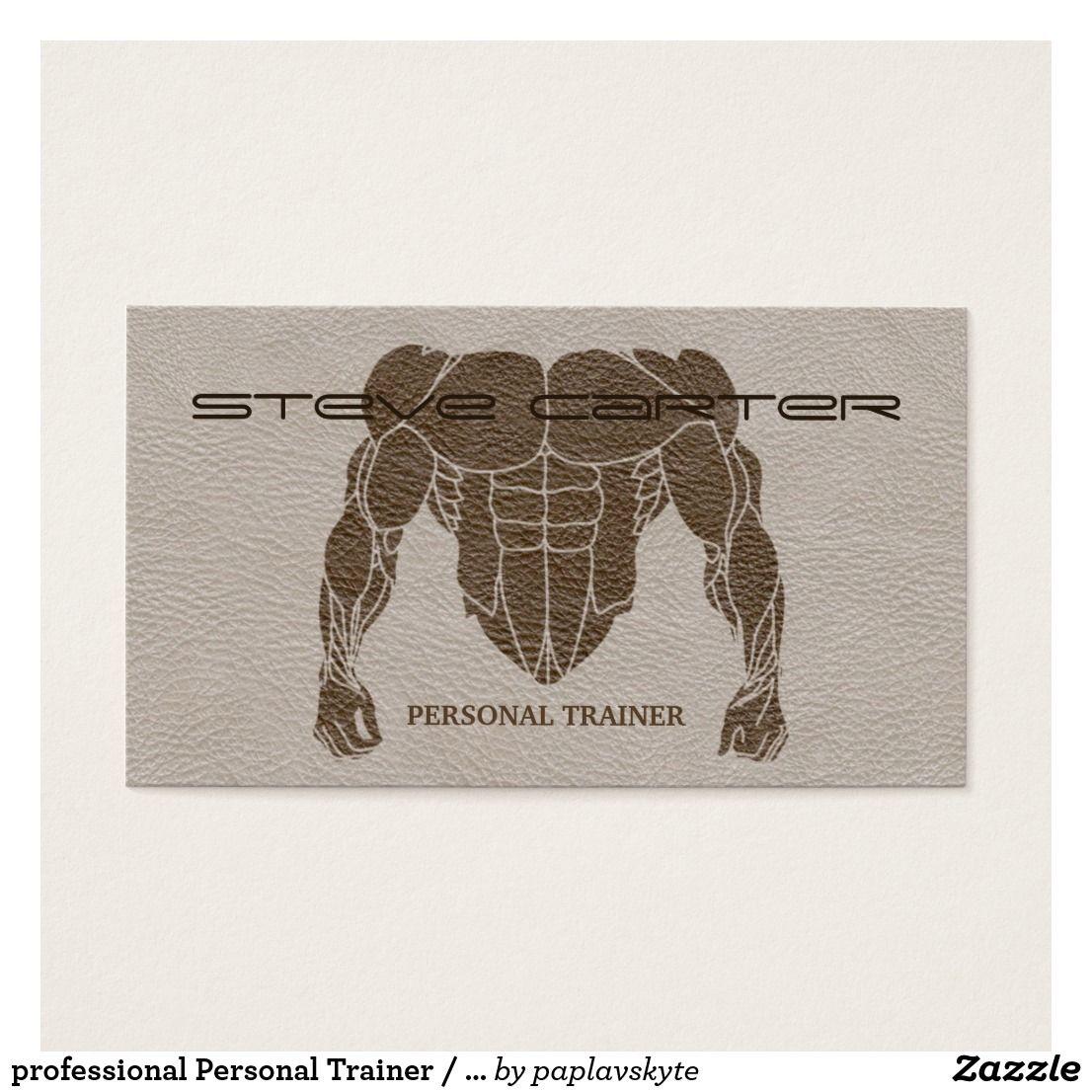professional Personal Trainer / Bodybuilder Card Zazzle