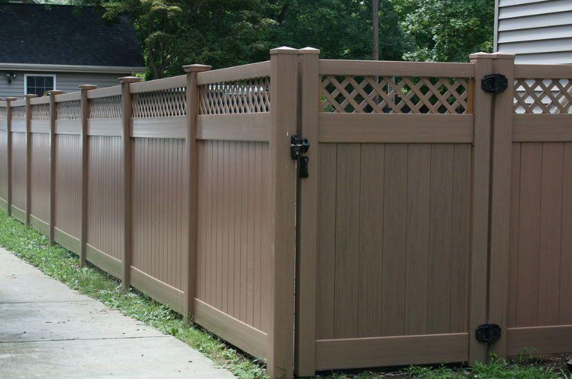 Brown Vinyl Vinyl Fence Vinyl Fence Panels Vinyl Picket Fence