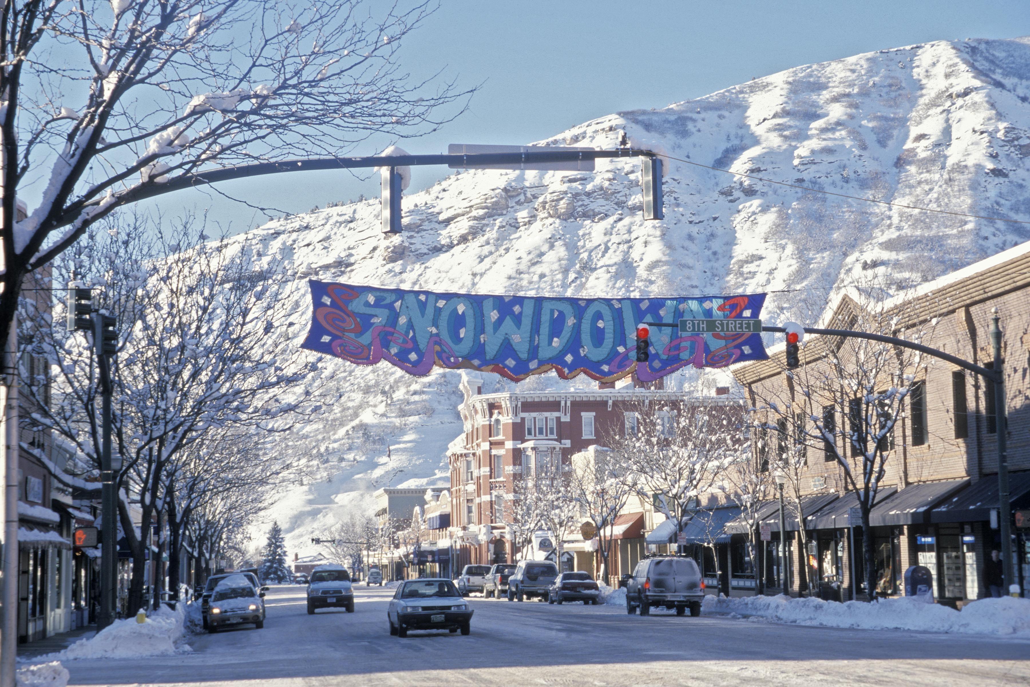Durango's Main Avenue prepares for the Snowdown Winter Festival #colorado