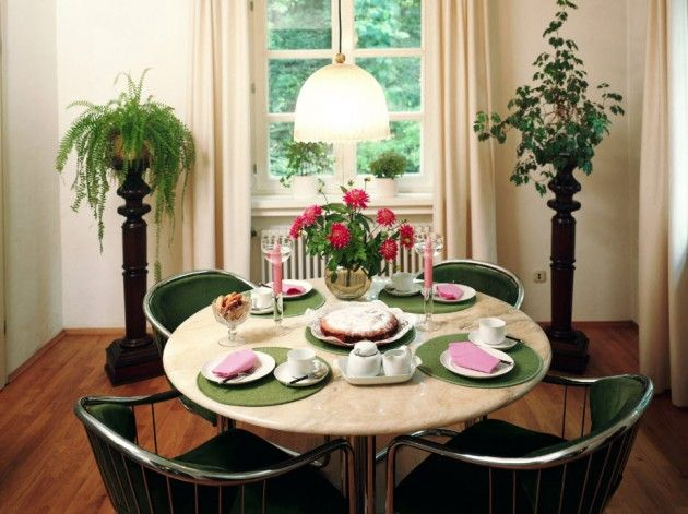 Small Round Dining Tables For Big Style Statement Round Dining Table Decor Dining Room Small Small Dining Room Decor