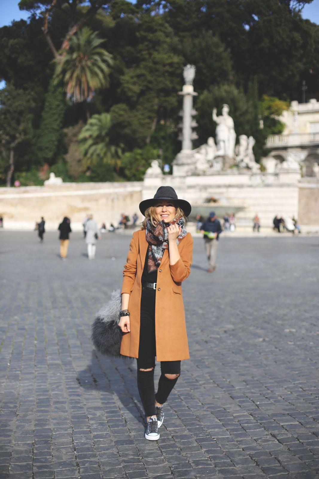 Abrigo camel mujer moda