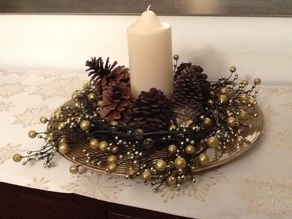 Adorno de navidad velas adornos de navidad mesa - Centro de mesa navideno ...