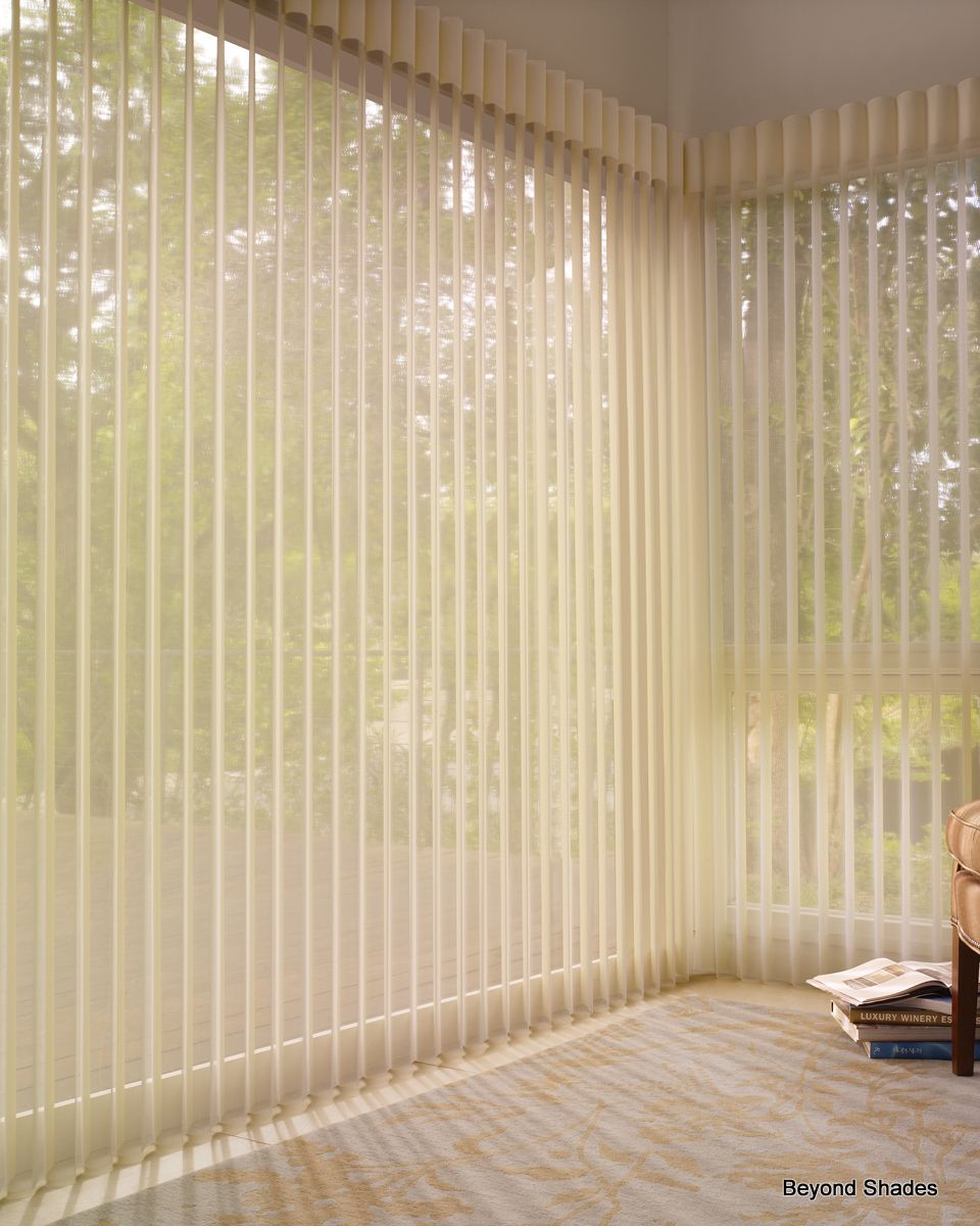 Vertical blinds enhance sliding doors and larger windows into stylish - Luminettes Are A Great Alternative To Vertical Blinds For Sliding Glass Doors And Large Windows